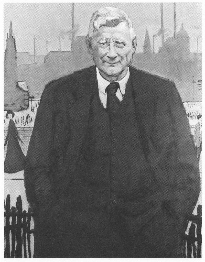Portrait of the artist LS Lowry by Ruskin Spear
